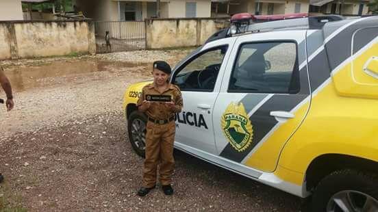 Policiais Militares de Colombo realizam sonho de garoto