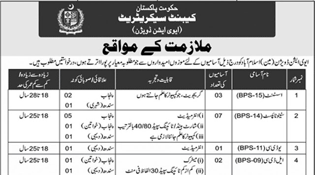 Aviation Division Cabinet Secretariat Jobs