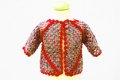2 -Crochet IMAGEN Chaqueta de exagonos a crochet y ganchillo. MAJOVEL CROCHET