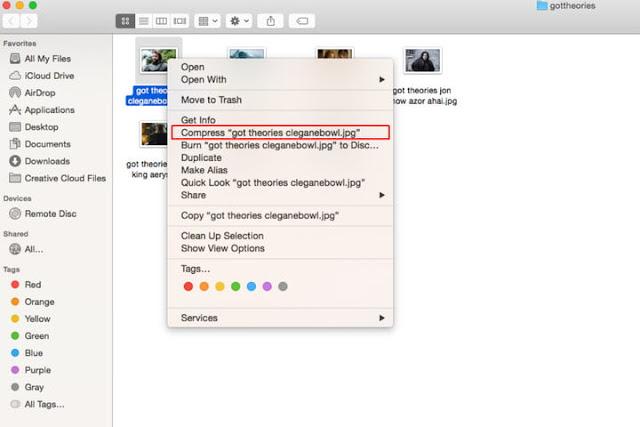 how to zip files in mac
