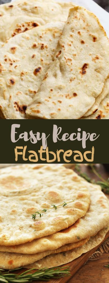 Easy Flatbread Recipe #food #lunchrecipe #vegan #vegetarianrecipe #easyrecipe