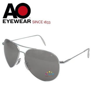 AO Military Flight Gear Aviator Sunglasses (Silver, Non-Polarized)