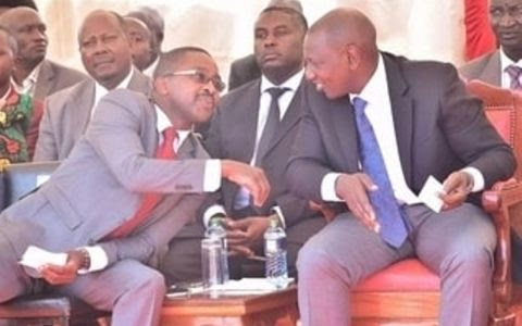 DP William Ruto with Murang'a Governor Mwangi wa iria.