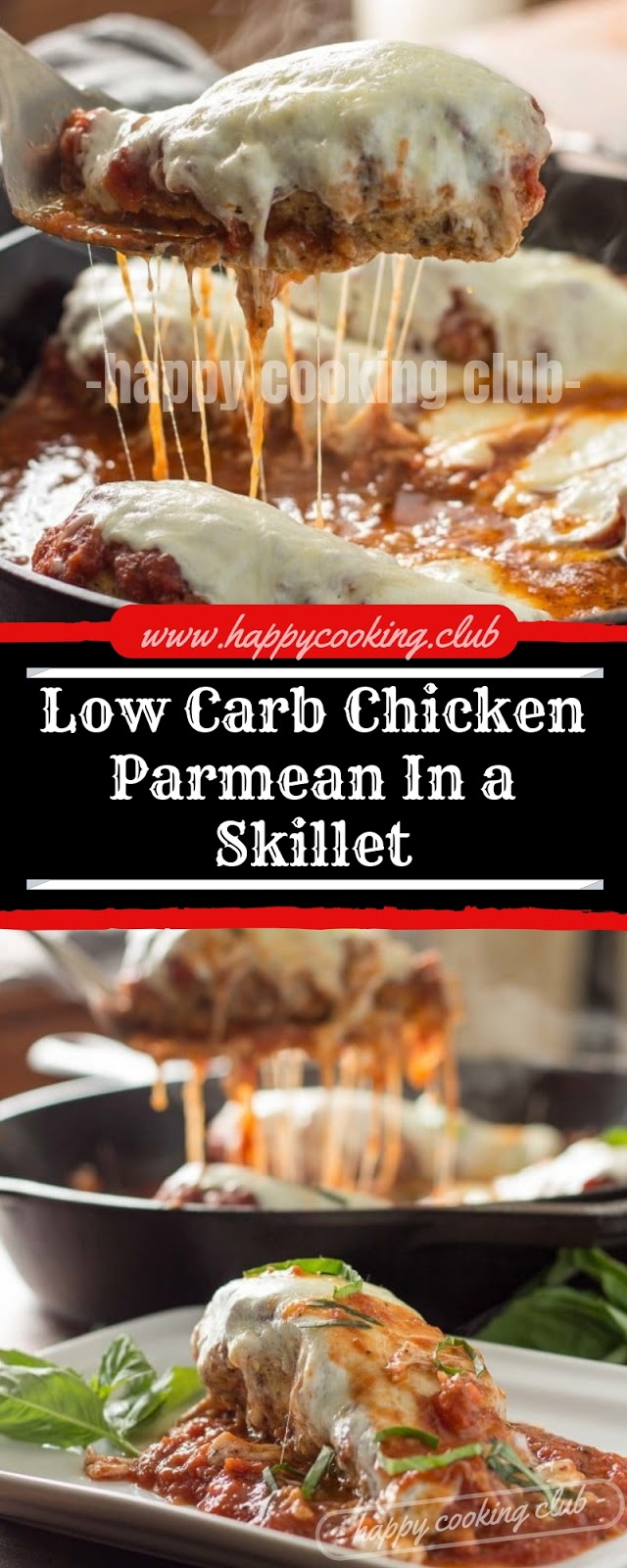 Low Carb Chicken Parmean In a Skillet