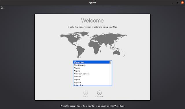 macOS initial setup