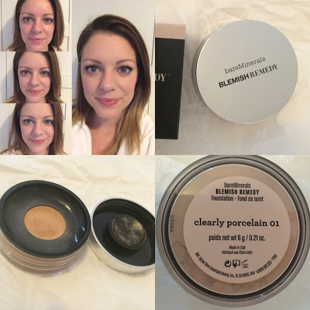 Bare Minerals blemish remedy foundation review before and after