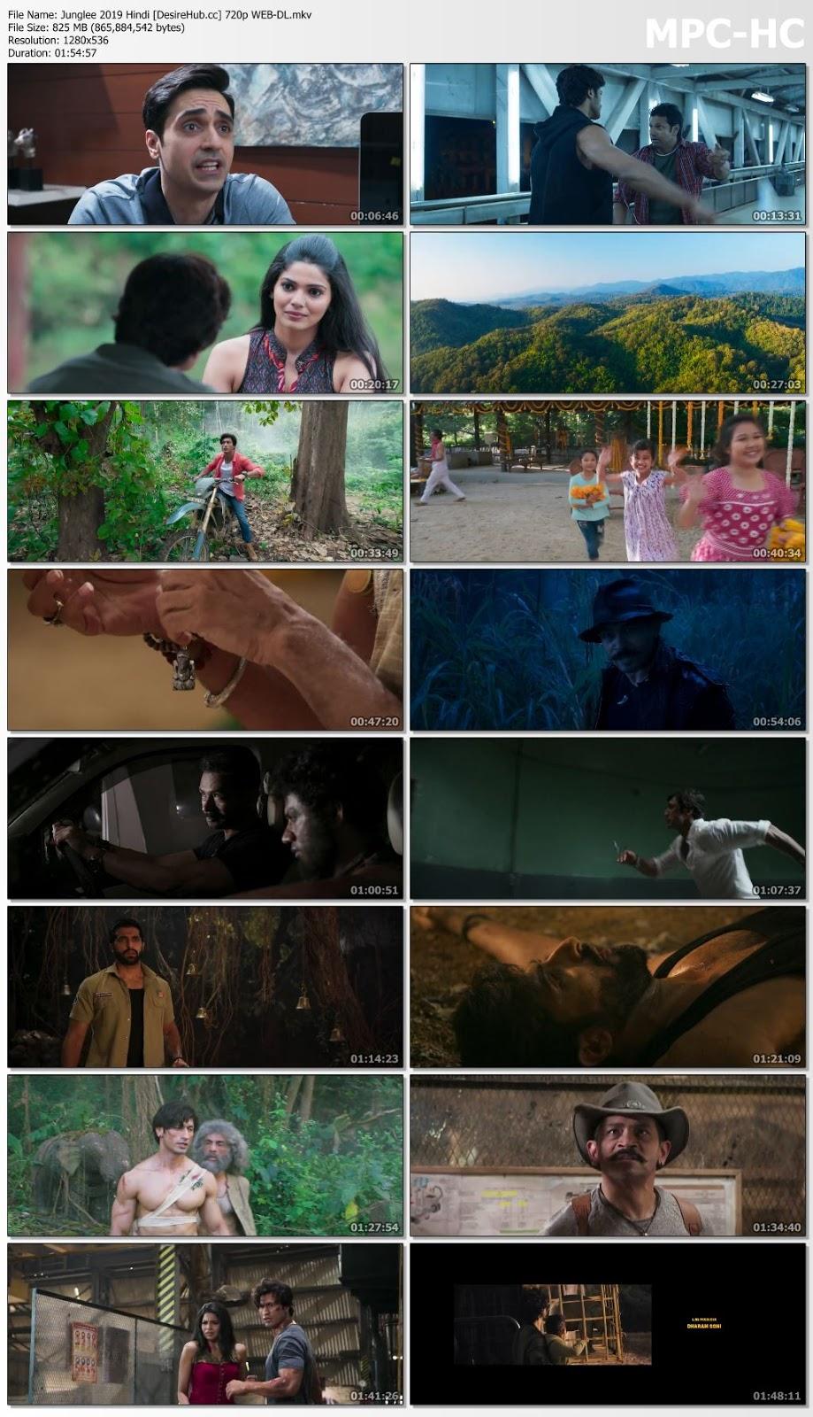 Junglee 2019 Hindi 720p WEB-DL 800MB Desirehub