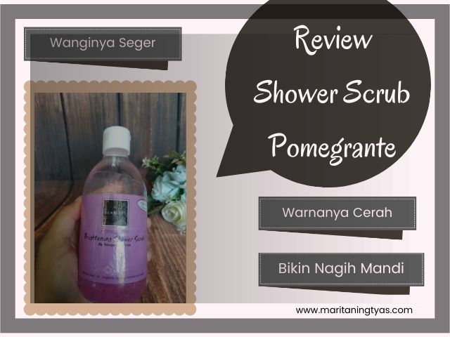 review scarlett whitening shower scrub pomegrante