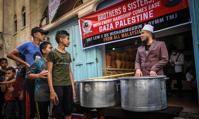 Ebit Lew: Alhamdulillah dapat mulakan soup kitchen di Gaza Palestin