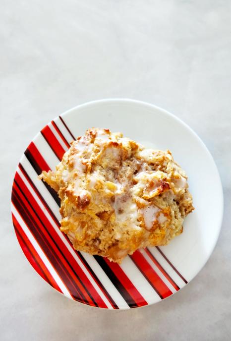 plated apple pie drop biscuit