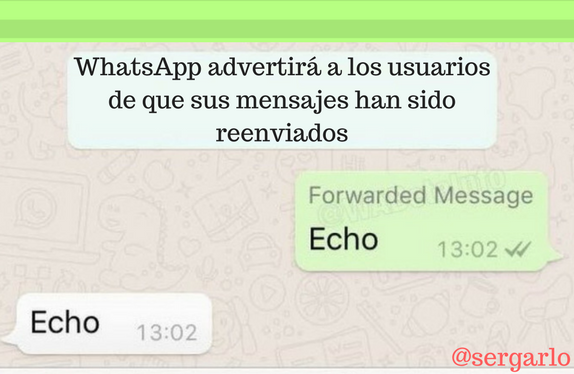 Whatsapp, mensaje, reenviar, usuarios, advertir