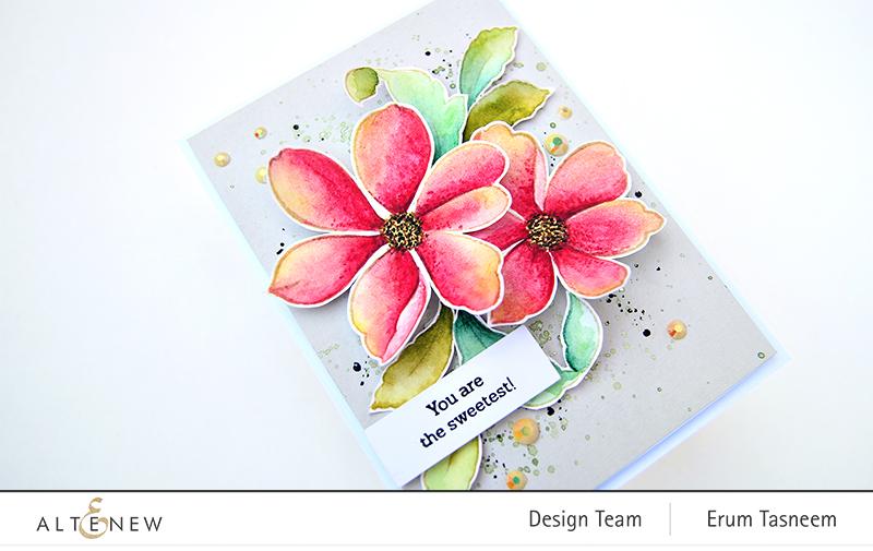 Altenew Fabulous Florets Stamp Set | Erum Tasneem | @pr0digy0