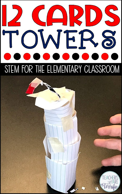STEM Challenge: Use index cards to build a tower that resembles a famous structure. Check this post for more towers.