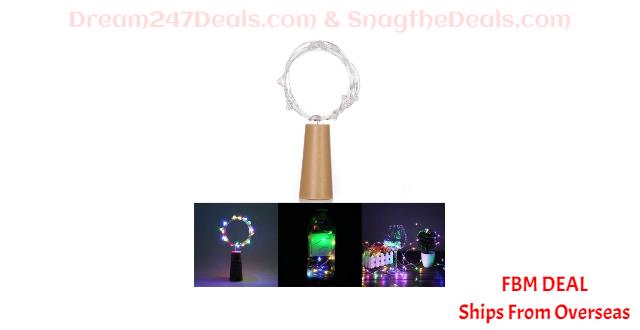 80%  off 6.56ft 20 LED Bottle Stopper Lamp String Bar Decoration
