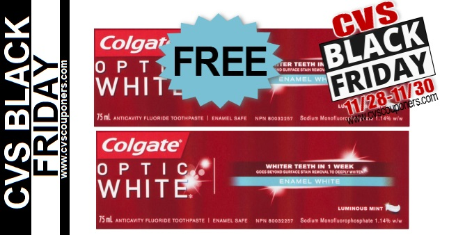 CVS Black Friday FREE Colgate Toothpaste Deal