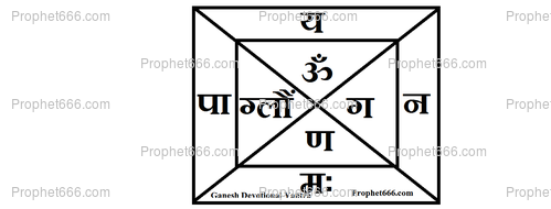 Upasana Yantra for the Pure worship of Ganesha