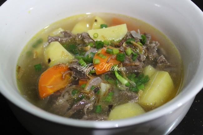 Sup Daging Nana Ain Yang Sedap Azie Kitchen