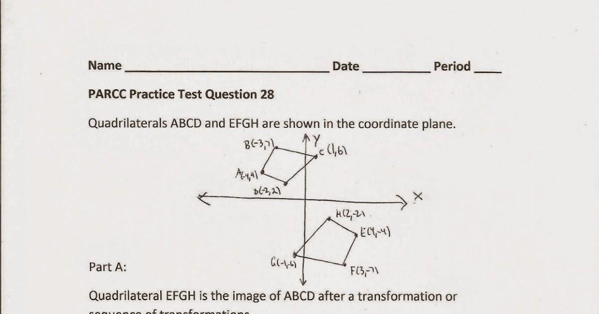 Geometry, Common Core Style: PARCC Practice Test Question 28