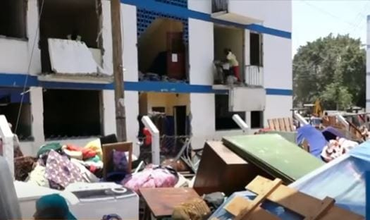 Hundreds of residents of Buxton Estate in Mombasa County photo