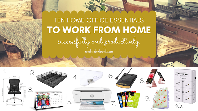 ten home office essentials for a functional work space