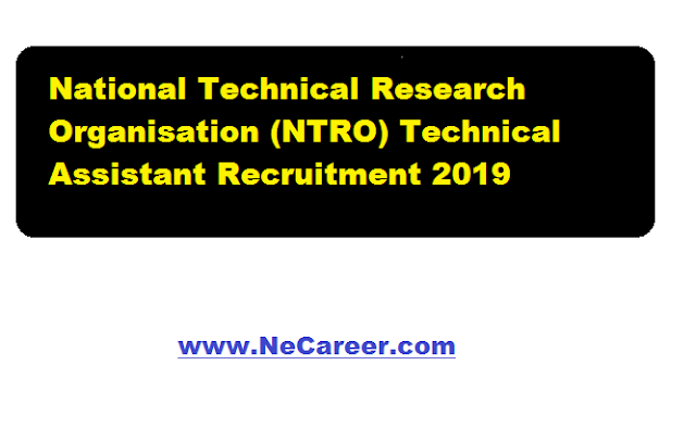 National Technical Research Organisation (NTRO) Technical Assistant Recruitment Examination 2019