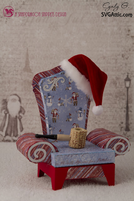 3d svg Santas Chair