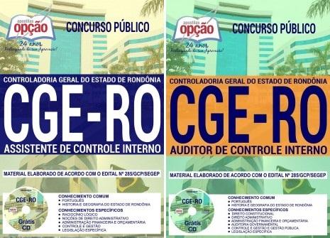 apostila CGE Rondônia Auditor e Assistente Assistente de Controle Internor