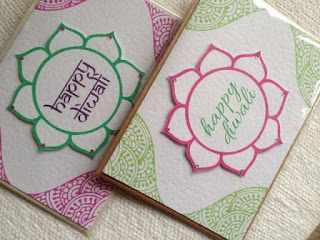 Images of handmade diwali cards