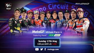 Cuarta Carrera Virtual de MotoGP  Misano 17 mayo 2020