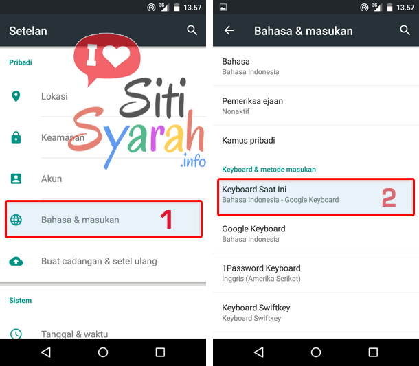 cara ganti keyboard android lollipop