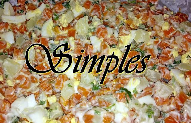 Salada de maionese: Cenoura, batata e ovo