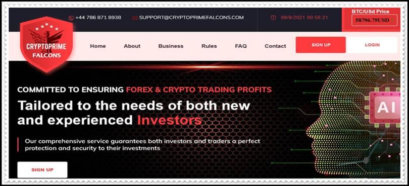 Мошеннический сайт cryptoprimefalcons.com – Отзывы, развод, платит или лохотрон? Мошенники
