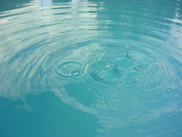 Image of calm water with ripples:correct Speaking Tones can promote calmness