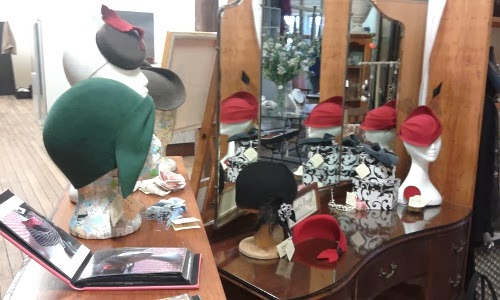 Hat display at Crago Mill