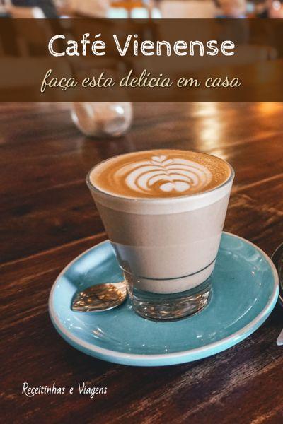 Receita de café cremoso, café vienense