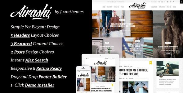 Airashi - Clean Personal WordPress Blog Theme