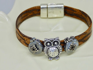 Leather Owl Bracelet by BayMoonDesign