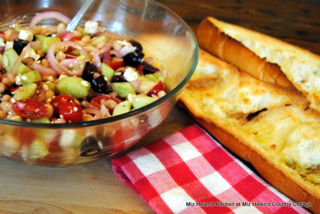 Greek Salad Boat at Miz Helen's Country Cottage