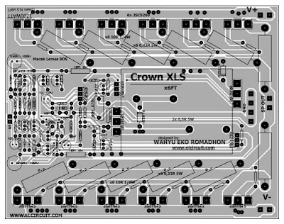 Power amplifier crown PCB Layout