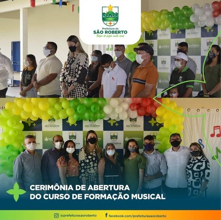 Prefeitura promove cerimônia de abertura do Curso de Formação Musical em São Roberto
