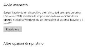 Avvio Windows 10