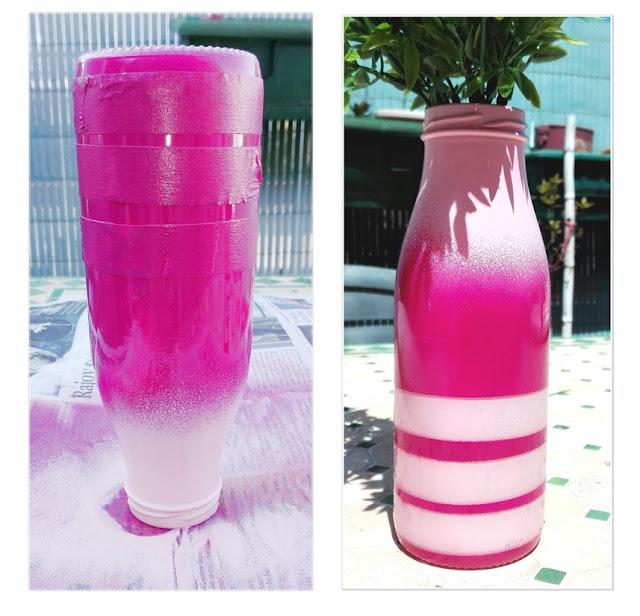 botella-reutilizada-con-pintura-en-spray-pintyplus