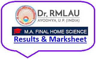 Ayodhya University MA Home Science Final Result 2021