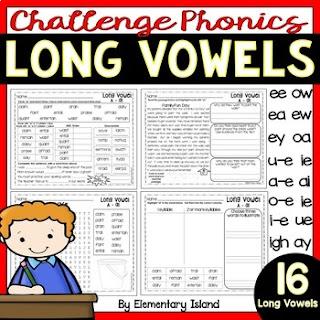 teaching phonics vowel combinations long vowel sounds
