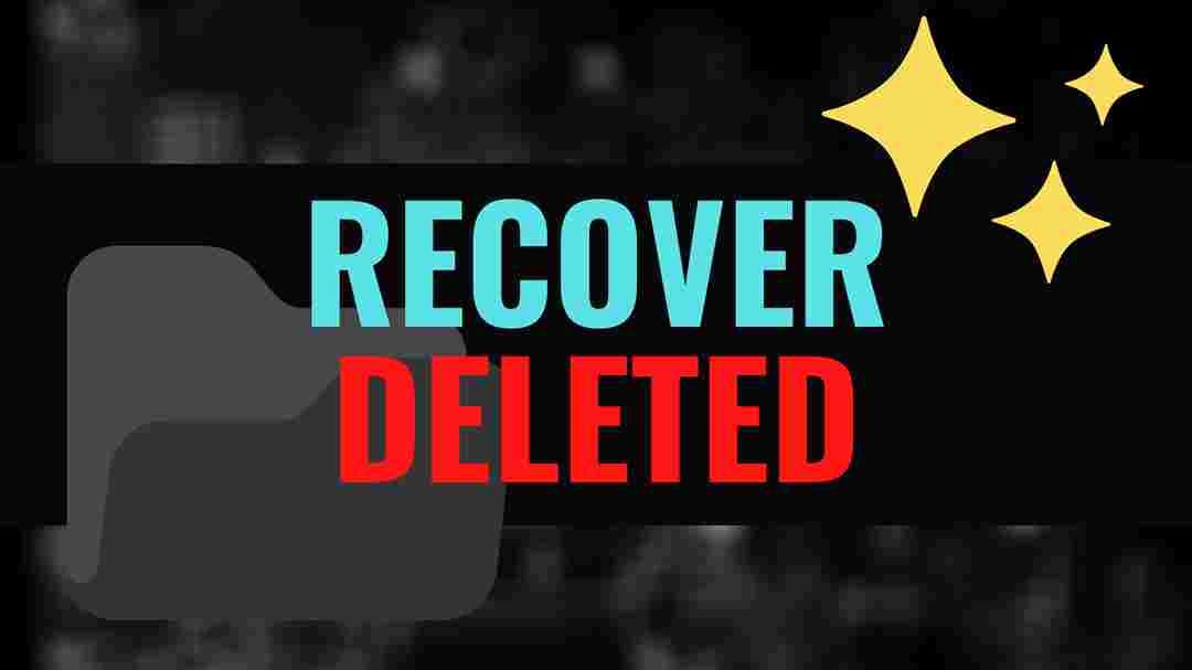Recover deleted data file folder windows