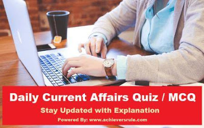 Daily Current Affairs MCQ - 23rd October 2017