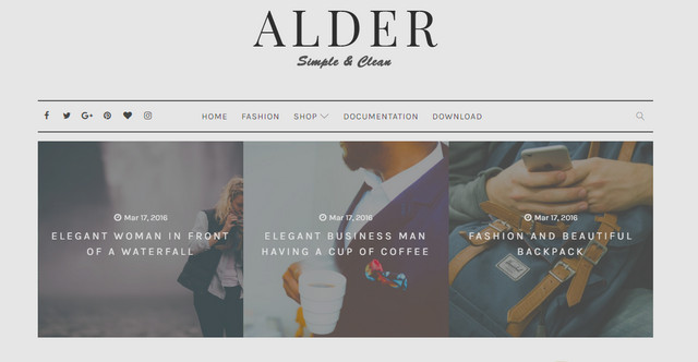 Alder Simple Responsive Blogger Templates