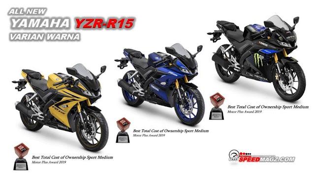 Varian,Spesifikasi dan Harga All New Yamaha R15  2019