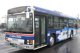 スカイマーク応援ラッピングバス