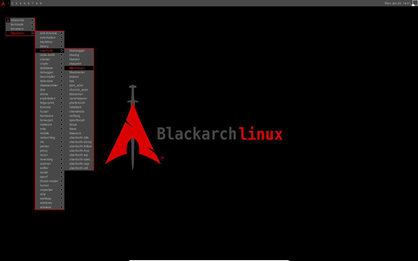 BlackArch Linux v2014 10 07 - Lightweight expansion to Arch
